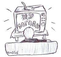 По телевизору идет мультфильм|анимация в CSS