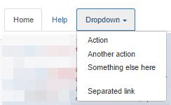 Bootstrap меню с выпадающим подменю