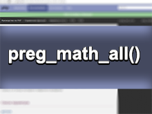 preg_math_all - регулярные в PHP
