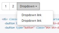 Группа кнопок с выпадающим меню